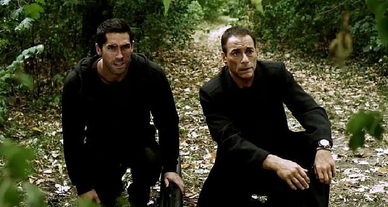 Scott Adkins and Van Damme