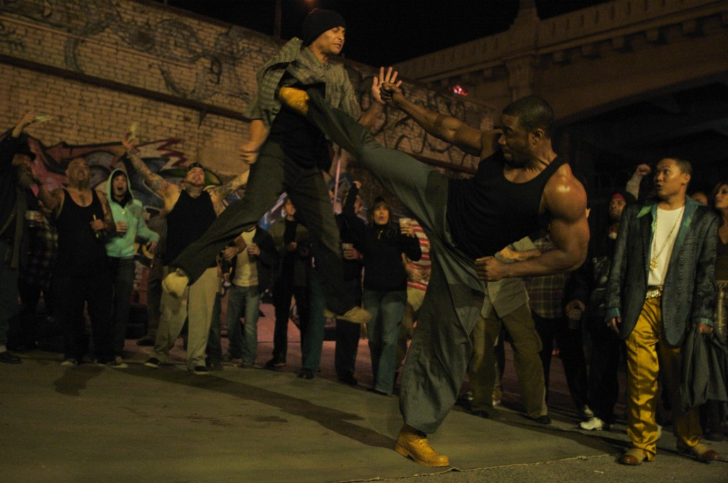 blood and bone Blood and bone is rated r for violence, drug use, and language parents should know that there are a few scenes where blood is shown while fighting fighting is the whole idea of the movie so there is quite a bit of it.